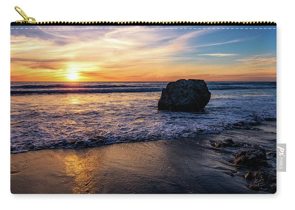 Sunset At San Simeon Beach Carry-all Pouch
