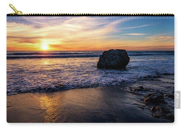 Sunset At San Simeon Beach Carry-all Pouch