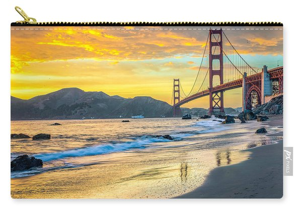 Sunset At The Golden Gate Bridge Carry-all Pouch