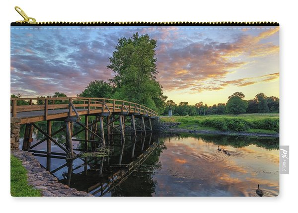 Sunset At The Old North Bridge Carry-all Pouch
