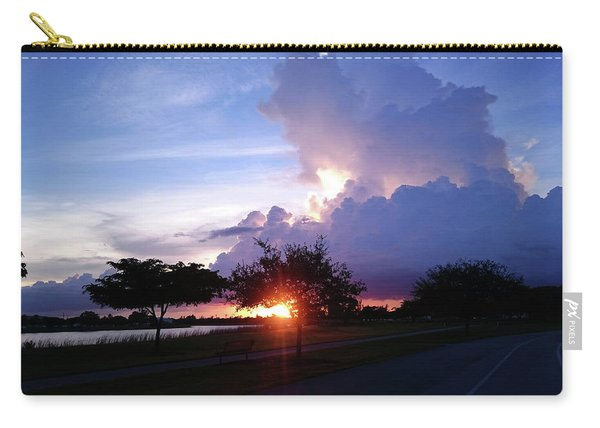 Sunset At The Park In Miami Florida Carry-all Pouch