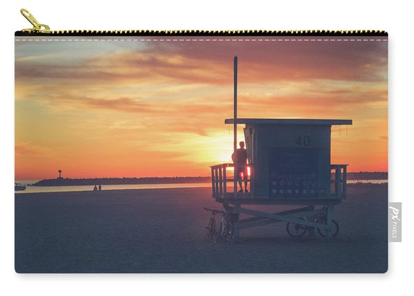 Sunset At Toes Beach Carry-all Pouch