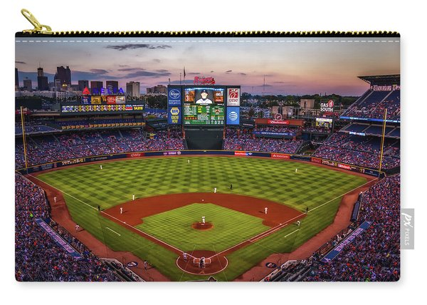 Sunset At Turner Field - Home Of The Atlanta Braves Carry-all Pouch