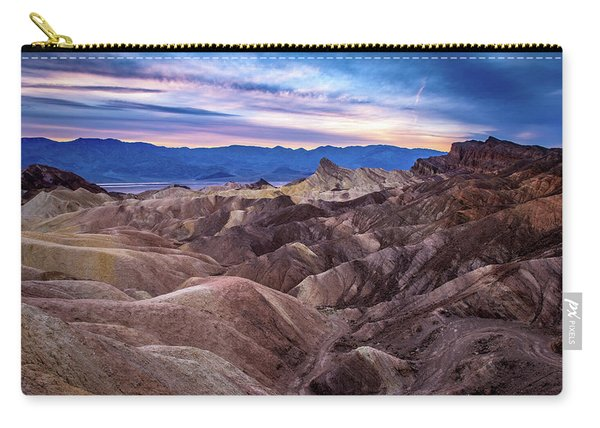 Sunset At Zabriskie Point In Death Valley National Park Carry-all Pouch