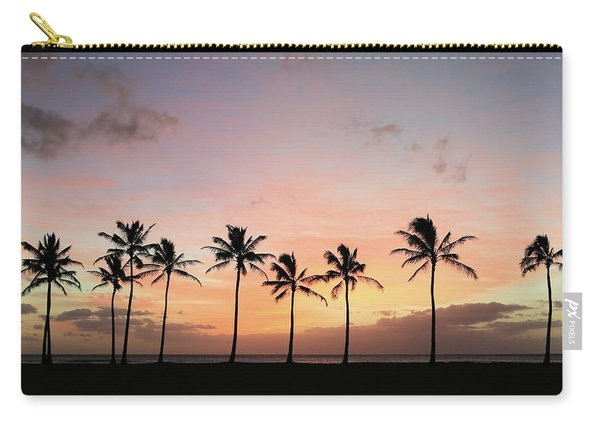 Sunset Behind The Palms Carry-all Pouch