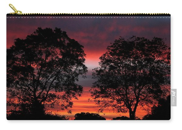 Sunset Behind Two Trees Carry-all Pouch