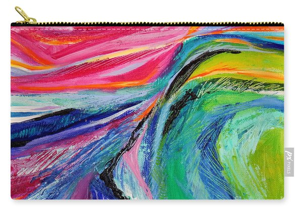 Sunset Beyond The Hill Carry-all Pouch