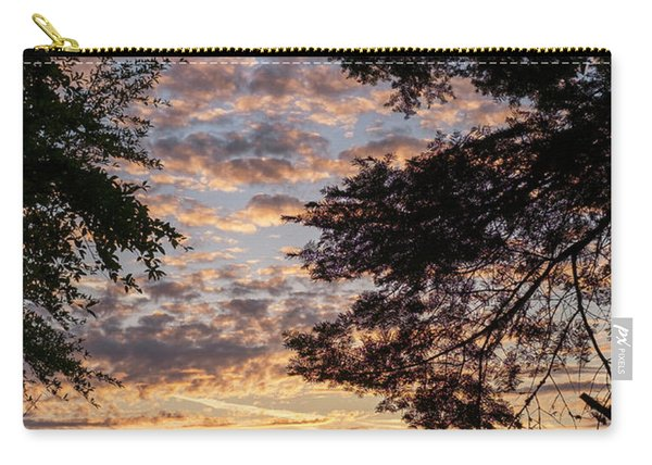 Sunset Caressed By Tree Branch Carry-all Pouch