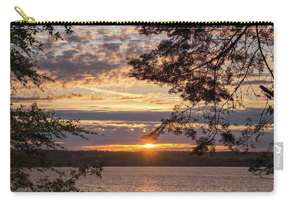 Carry-all Pouch featuring the photograph Sunset Caressed By Tree Branch by Mary Lee Dereske