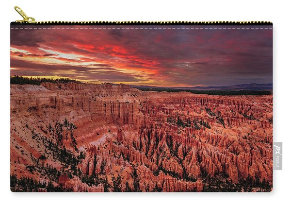 Sunset Clouds Over Bryce Canyon Carry-all Pouch