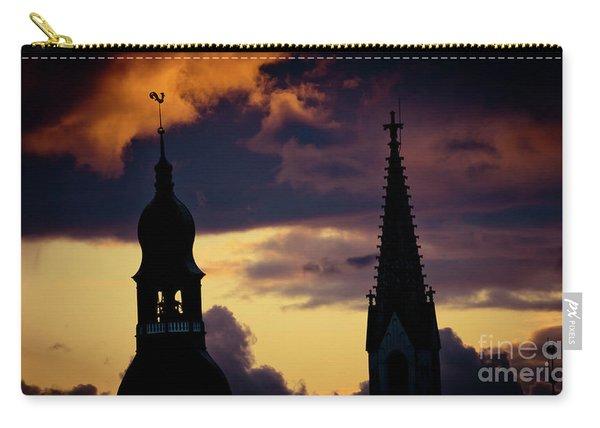 Sunset Cloudscape Old Town Riga Latvia Carry-all Pouch