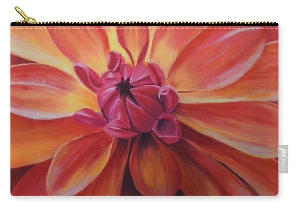 Sunset Dahlia Carry-all Pouch
