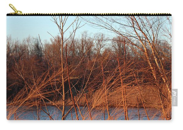 Sunset Field Over Water Carry-all Pouch