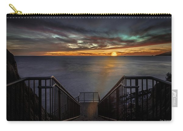 Sunset From Sandpiper Staircase Carry-all Pouch
