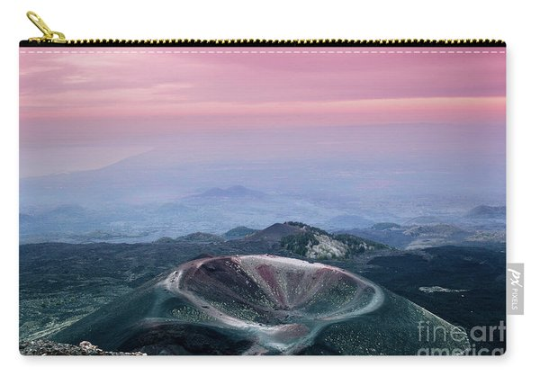Sunset From The Top Of The Etna Carry-all Pouch