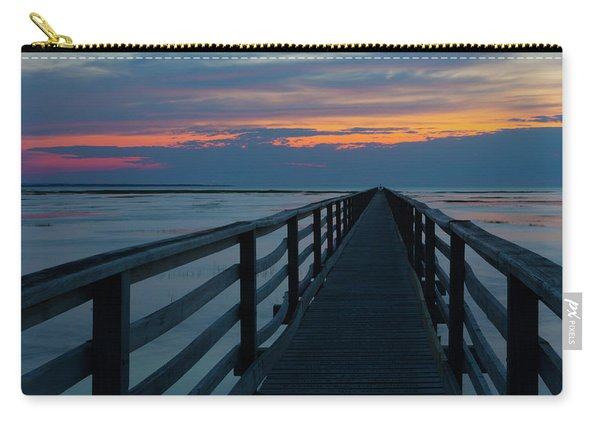 Sunset Grays Beach Cape Cod Carry-all Pouch