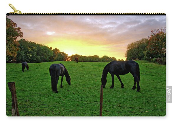 Sunset Horses Carry-all Pouch