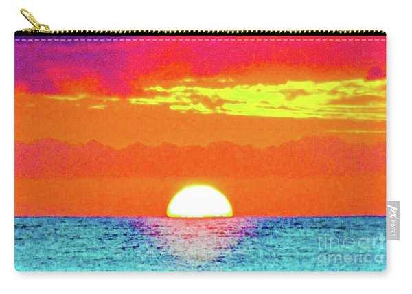 Sunset In Abstract 500 Carry-all Pouch