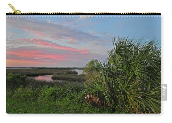 D32a-89 Sunset In Crystal River, Florida Photo Carry-all Pouch