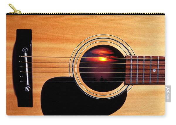 Sunset In Guitar Carry-all Pouch