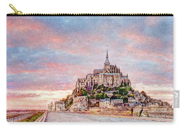 Sunset In Mont Saint Michel Carry-all Pouch