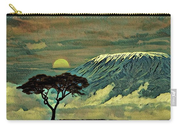 Sunset In Serengeti Carry-all Pouch