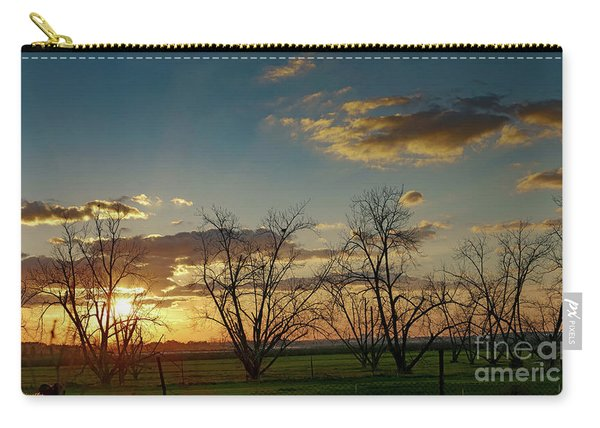Sunset In The Fields Of Binyamina Carry-all Pouch
