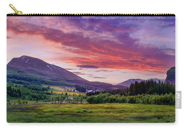 Carry-all Pouch featuring the photograph Sunset In The Meadow by Dmytro Korol