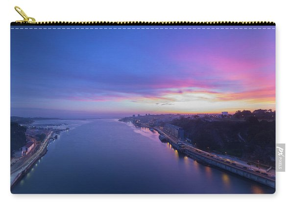 Sunset Looking From A Bridge Carry-all Pouch