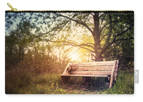 Sunset On A Wooden Bench Carry-all Pouch