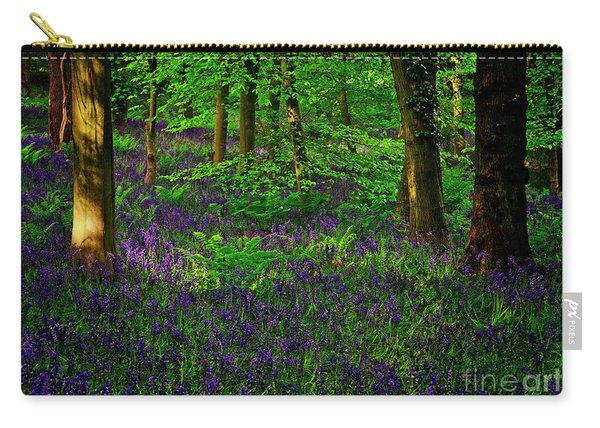 Sunset On Bluebells In Spring Carry-all Pouch
