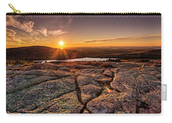 Sunset On Cadillac Mountain Carry-all Pouch