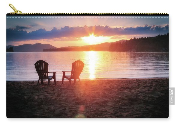 Sunset On Fourth Lake Carry-all Pouch