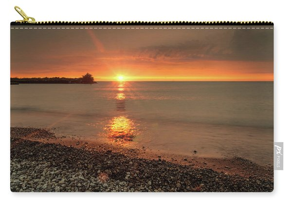 Sunset On Huron Lake Carry-all Pouch
