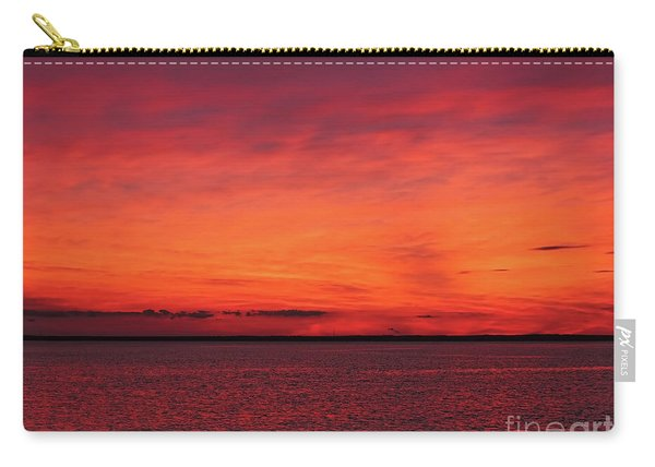 Sunset On Jersey Shore Carry-all Pouch