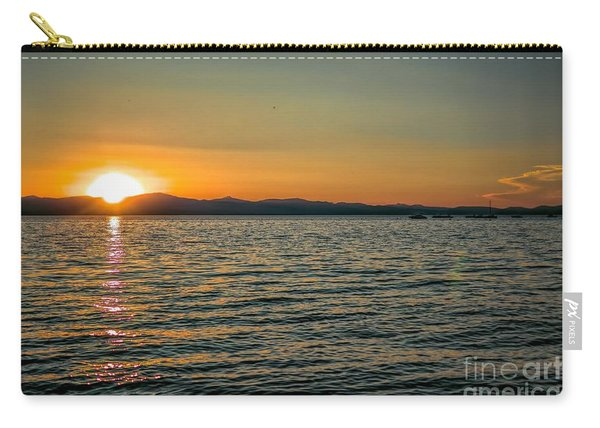 Sunset On Left Carry-all Pouch