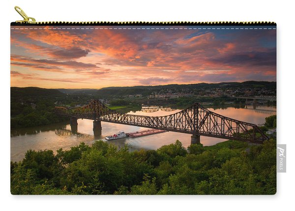 Sunset On Ohio River  Carry-all Pouch