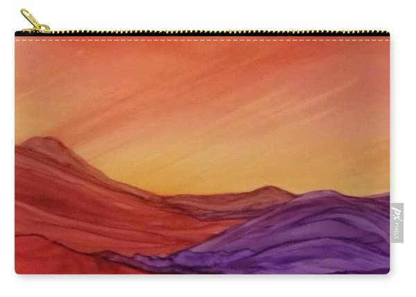 Sunset On Red And Purple Hills Carry-all Pouch