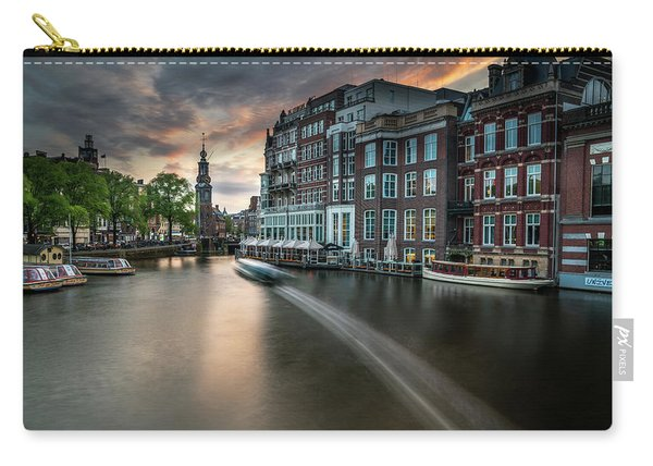 Sunset On The Amstel River In Amsterdam Carry-all Pouch