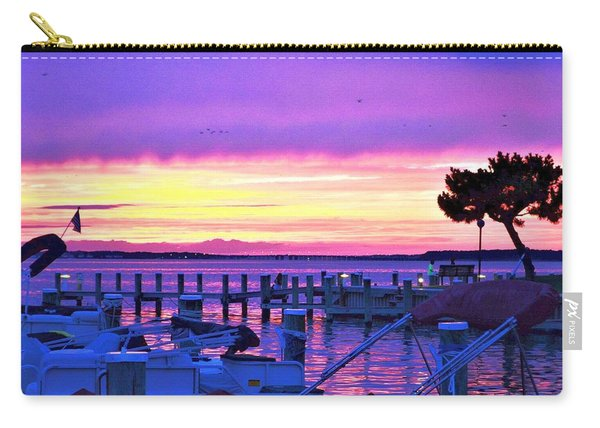 Sunset On The Docks Carry-all Pouch