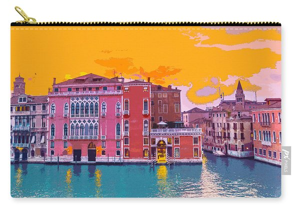 Sunset On The Grand Canal Venice Carry-all Pouch