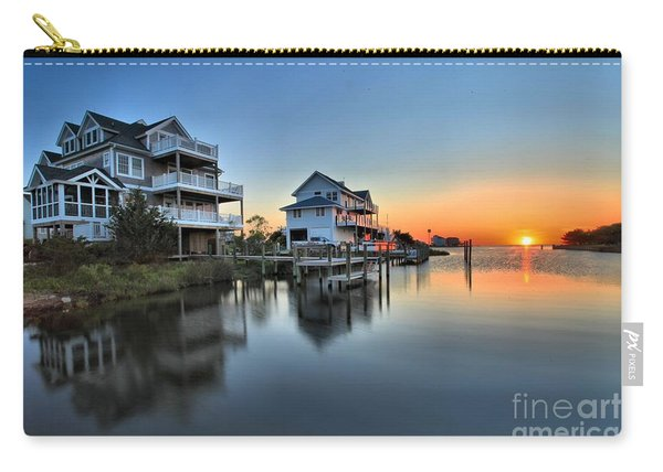 Sunset On The Obx Sound Carry-all Pouch