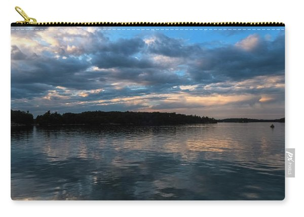 Carry-all Pouch featuring the photograph Sunset On The River by Tom Singleton