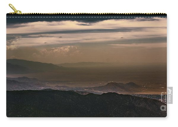Carry-all Pouch featuring the photograph Sunset On The Sandias by Susan Warren
