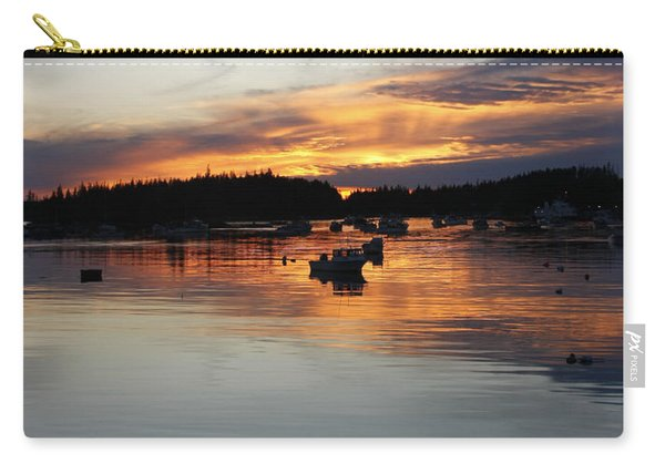 Sunset On Vinalhaven Maine Carry-all Pouch