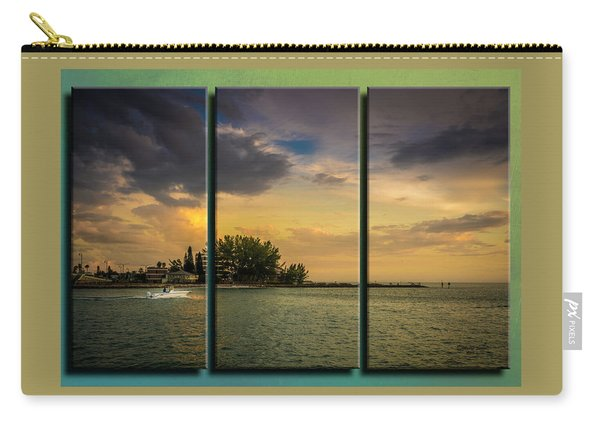 Sunset Outing Triptych Carry-all Pouch