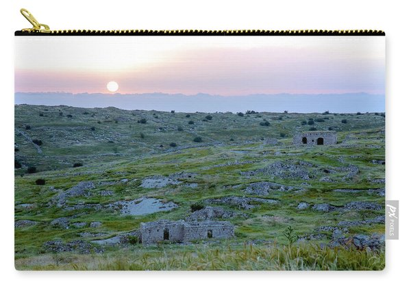 Sunset Over A 2000 Years Old Village Carry-all Pouch