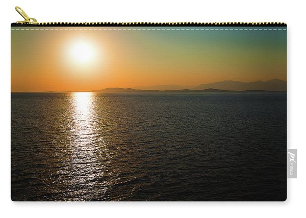 Sunset Over Aegean Sea Carry-all Pouch