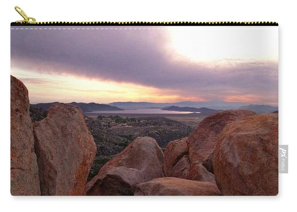 Sunset Over Diamond Valley Lake Carry-all Pouch