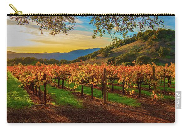 Sunset Over Gamble Vineyards Carry-all Pouch